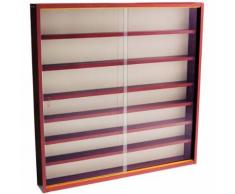 Watsons - REVEAL - Vitrine Collectionneur murale 6 etageres - finition acajou - Vitrines