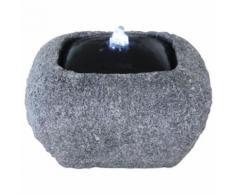 Velda Fontaine en pierre avec lumière LED Carré 851288 - Décoration d'extérieur