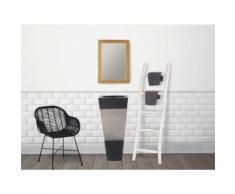 Vasque sur pied en marbre MIDO - Couleur Noire et grise - Installations salles de bain