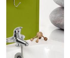 set accessoires salle de bain Main de massage pour le corps - Plastique et bois - H13 x l11 x P8 cm - Naturel et hetre - Accessoires de bain