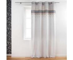rideau a oeillets 140 x 240 cm coton uni+top imprime voyage berbere - Rideaux et stores