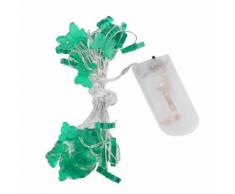 Guirlande lumineuse en forme de papillon 20LED Décoration pour Fête Noël Mariage Party chambre lampe (blanc chaud) - Luminaires extérieur
