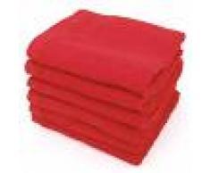 Linnea Lot de 6 serviettes invité 30x50 cm ALPHA rouge