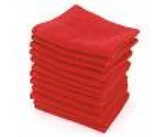 Linnea Lot de 12 serviettes invité 30x30 cm ALPHA rouge