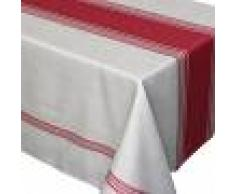 Linnea Nappe rectangle 150x250 cm imprimée 100% polyester BISTROT Rouge