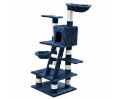 vidaXL Arbre à chat 122 cm en peluche bleue foncée