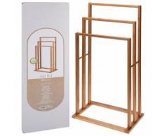 Bathroom Solutions Porte-serviette Bambou avec 3 barres