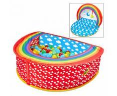 Worlds Apart Piscine à boules 2 en 1 Rainbow 100x76x30 cm Multicolore