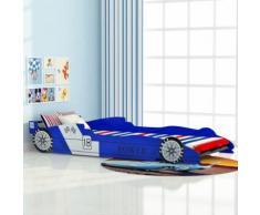 vidaXL Lit voiture de course pour enfants 90 x 200 cm Bleu