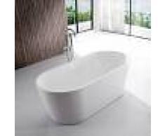 Rue Du Bain Baignoire ilot Ovale - Acrylique blanc -120x65 cm - Rome