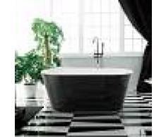 Rue Du Bain Baignoire ilot Ovale - Acrylique Noir et Blanc - 170x80 cm - Séville