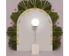 AVALON SQUARED-Lampe de sol Métal & Céramique H145cm or rose pale Houtique - designé par Carolina Micó
