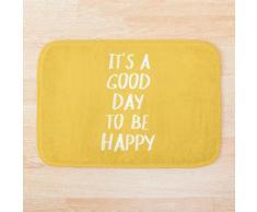 C'est une bonne journée pour être heureux en jaune Tapis de bain