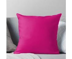 Décor de couleur solide fuchsia rose chaud Coussin