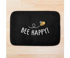 Abeille heureuse - abeille mourante abeille jardin apiculteur protection de l'environn Tapis de bain