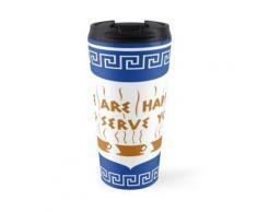 Conception de tasse à café d'anthora grecque de NYC Mug de voyage