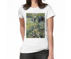 """Pierre-Auguste Renoir (1841-1919) """"Femme avec parasol dans un jardin"""" T-shirt femme"""