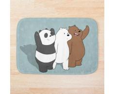 Nous les ours nus Tapis de bain