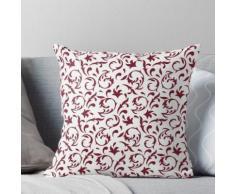 Motif décoratif en Bourgogne rouge et blanc Coussin