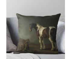 Abraham Van Calraet - Un cheval avec une selle à côté Coussin