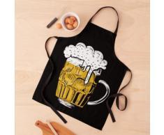 Verre à bière traditionnel allemand Oktoberfest sur des chemises et des gadgets Tablier