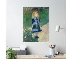 Auguste Renoir Une fille avec un arrosoir 1876 Peinture Poster