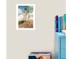 Femme avec un parasol - Claude Monet Impression art