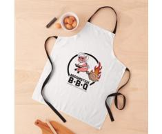 Logo de barbecue à balai Tablier