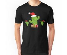 Cactus Sapin de Noël elfe T-shirt ajusté