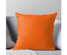 Festive Orange Accent Solide Couleur Décor Coussin