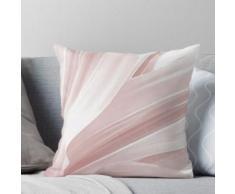 Feuilles molles. rose, blanc, nature, pâle, pastel, décor, art, RedBubble. Coussin
