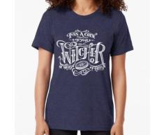 oh vallée d'abondance! Montrez votre amour pour votre Witcher local en portant ce t- T-shirt chiné