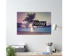 Profitez aujourd'hui de la plage tropicale Poster