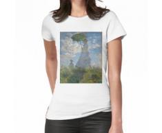 Femme avec un parasol - Madame Monet et son fils par Claude Monet T-shirt femme