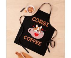 Café Corgi | Belle belle Corgi dans une tasse de café Tablier