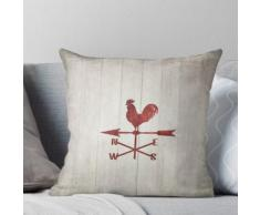 Girouette Rustique (Rouge) Coussin