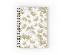 Patron de feuilles de palmier - Gold Cali Vibes # 3 #tropical #decor #art Cahier à spirale