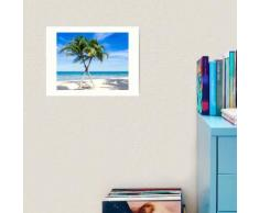 Conception d'île de palmier de bord de mer Impression art