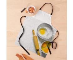 Fond de cuisson. Farine aux œufs et rouleau à pâtisserie. Tablier