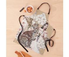 Fleurs léopard Tablier