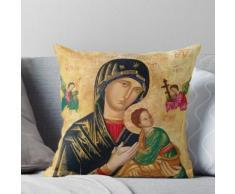 Notre-Dame du Perpétuel Secours, icône orthodoxe russe, Vierge à l'Enfant, Vierge Marie Coussin