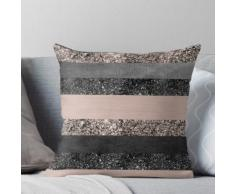 Blush Glitter Glam Stripes # 2 #shiny #decor #art Coussin