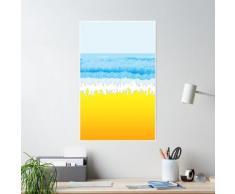 SURF, plage, ciel, mer, océan, sable, surfeur, surf, vague, équitation, bodyboard. Poster