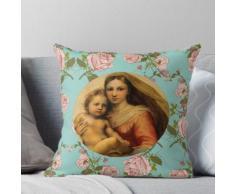 Sistine Madonna avec l'enfant Raphael Santi Coussin