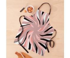 Géométrique. girouette. rose. blanc. noir. coloré. abstrait. Tablier