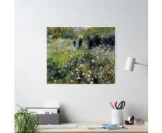 """Pierre-Auguste Renoir (1841-1919) """"Femme avec parasol dans un jardin"""" Poster"""