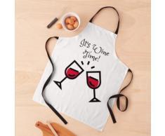 Cadeau d'amateurs de vin, verre à vin, masque à vin, c'est l'heure du vin, cadeau sommelie Tablier