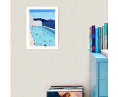 Piscine côtière Impression art