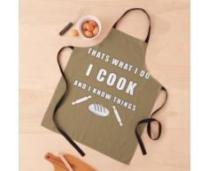 c'est ce que je fais je cuisine et je sais des choses Tablier