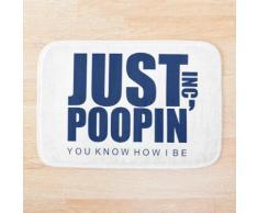 Le bureau Just Poopin 'Dunder Mifflin Logo Tapis de bain